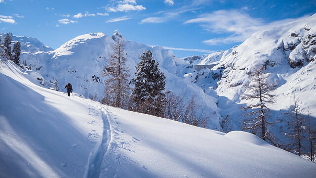 Ski de randonnée au lac d'Émosson