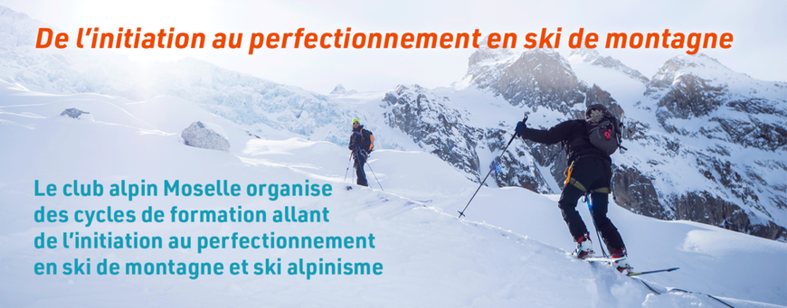 De l'initiation au perfectionnement en ski de montagne